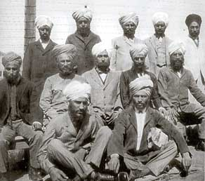 Group of sikh immigrants