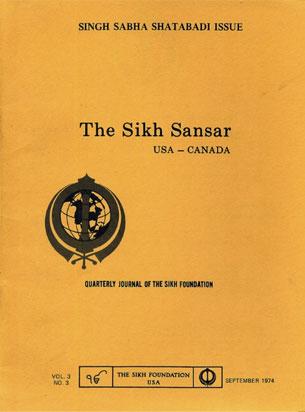 The 'Sikh Sansar' - Journal of the Sikh Foundation