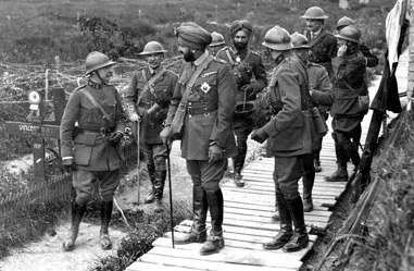 Maharaja Bhupinder Singh of Patiala with Belgian Generals in April 20, 1915 Courtesy of Belgian Army Muesum