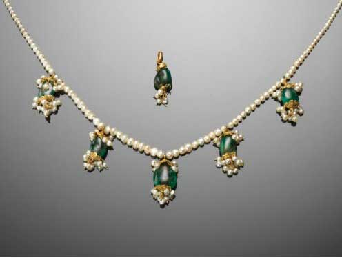 Emerald and Seed-Pearl Necklace- Worn by Maharani Jindan Kaur