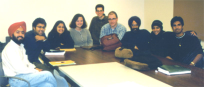 The first punjabi class at UCSB 1999