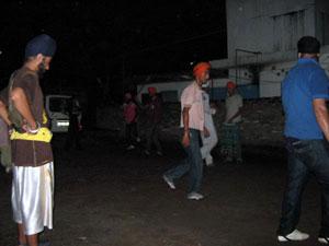 Sikh Dalit Boys - Learning Gatka martial  arts at Beltola Gurudwara.-Shillong