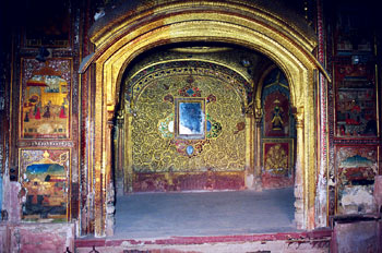 Patiala, Qila Mubarak complex--damaged murals about to be renovated
