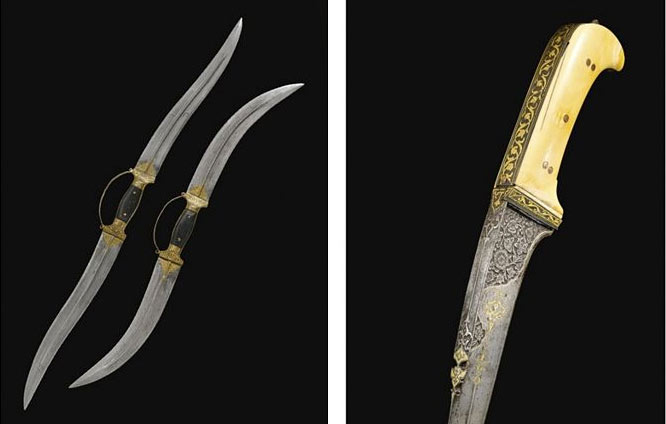 Pair of Double-Ended Daggers, India, 18th Century