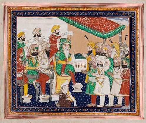 Maharajah Ranjit Singh in durbar