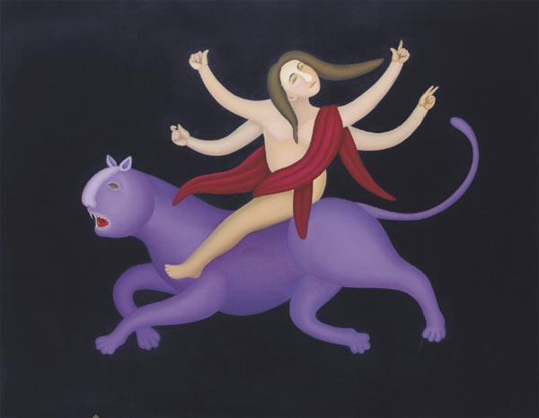 Déesse Durga Manjit_Bawa_Untitled_Durga