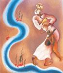 Dancing Nanak by Arpana Caur