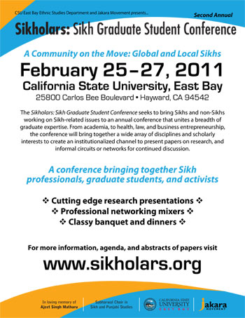"""SIKHOLARS 2011"" at the Cal State East Bay, Hayward, from 25th -27th Feb. 2011"