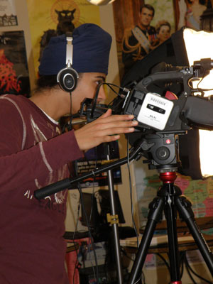 Filming the documentary
