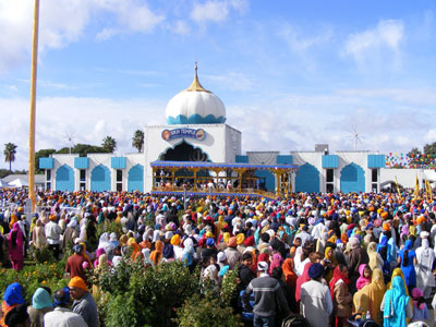 Yuba City was the recently constructed Sikh temple on Tierra Buena road.