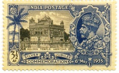 The first Sikh stamp was issued by the British Indian, in 1935