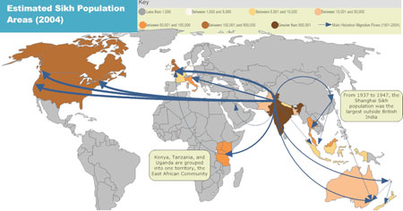 World Sikh Population and Migration - 2004