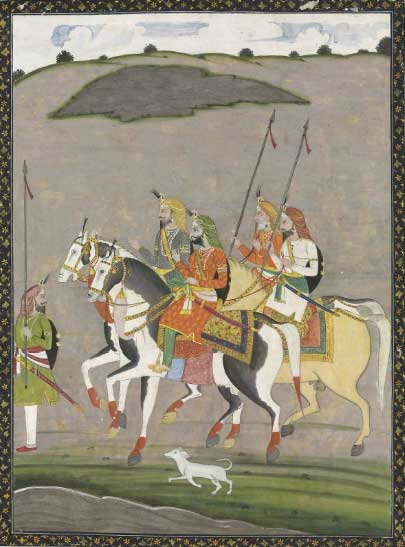 Sikh Art Watch - A RAJA HARI SINGH ON HORSEBACK