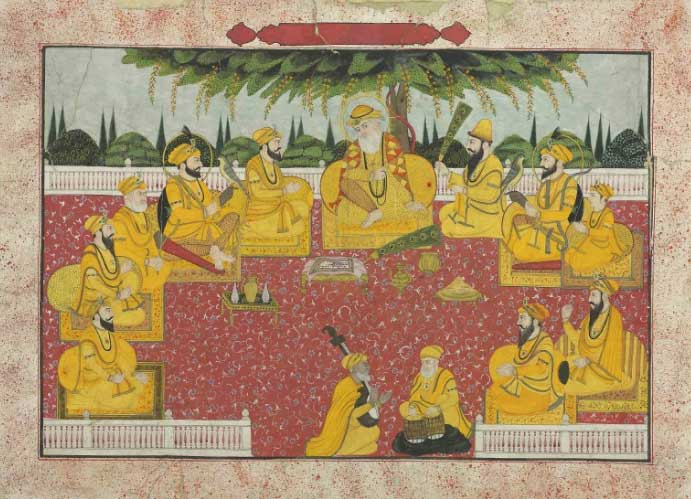 Sikh Art Watch - THE FESTIVAL OF BASANT PANCHMI<br /> CIRCA 1850