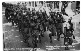 Postcard 1914 Sikh troops of the 15th Sikh regiment