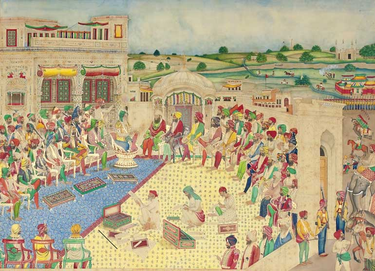 The Court of Maharaja Ranjit Singh, Bisham Singh Lahore, c.1850 ...