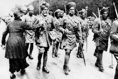 Indian Army arrived in Marseilles in September 1914