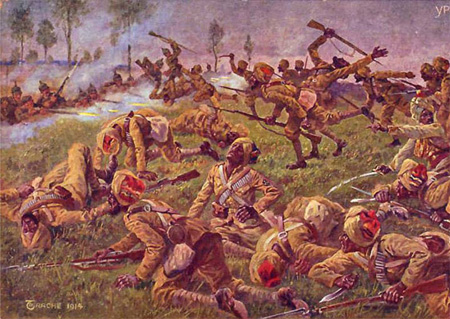 Sikh Soldiers in Battle