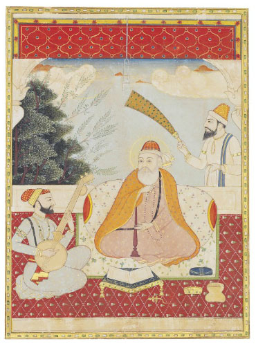 Sikh Art Watch - GURU NANEK WITH BALA AND MARDANA