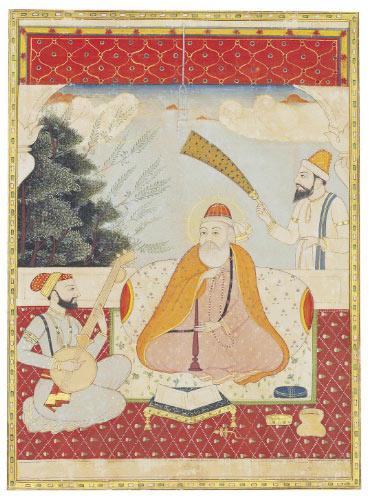 Sikh Art Watch - GURU NANEK WITH BALA AND MARDANA