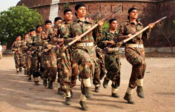 Punjab Women Commandos Force training in Patiala