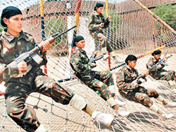 Punjab Women Commandos Force training in Patiala height=