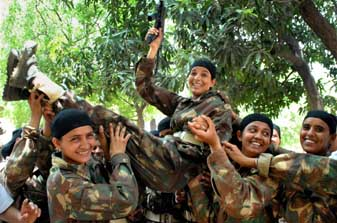 Women commandos at passing out parade