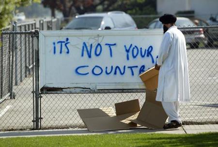 Vandalism at the Sikh Gurdwara in Fresno, CA