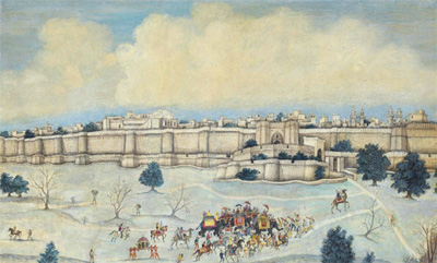 Sikh Art Watch - Sikhs before Lahore - India, 19th century