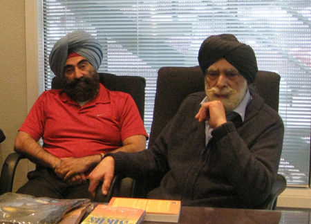 Lord Indarjit Singh with Dr. Ratinder Singh Ahuja