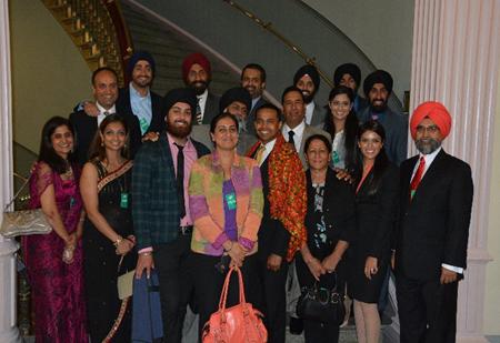 Sikhs presenting Punjabi phulkari to White House