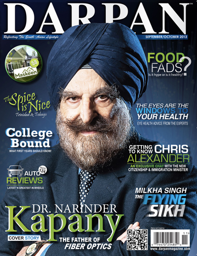 Sept/Oct 2013 - Darpan Magazine Cover Story - Dr. Narinder Kapany – The Father of Fiber Optics