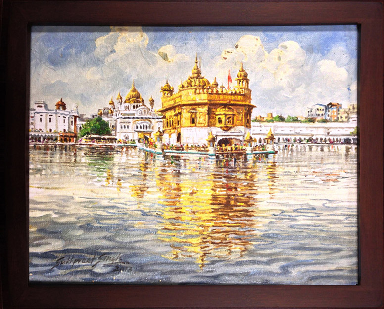 Original Sikh Art -Paintings of the Golden Temple by Sukhpreet Singh