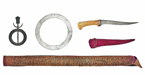 A Family Group of Traditional Sikh Edged Weapons - Christies Auction