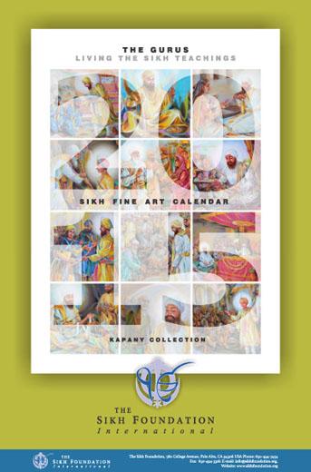 Calendar Fine Art : Sikh fine art calendar the gurus living