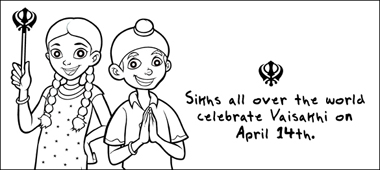 my first sikh books the sikh foundation international Zulu Coloring Pages Punjabi Worksheets