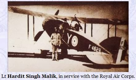 Sardar Hardit Singh Malik - First Indian Pilot