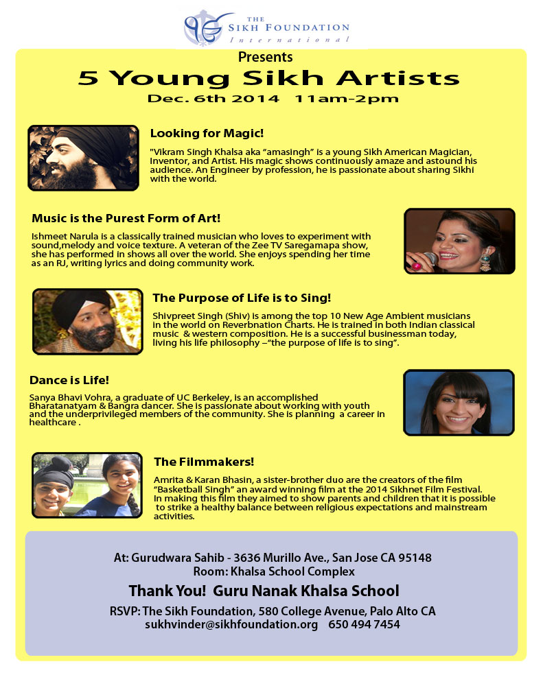 5 Young Sikh Artists