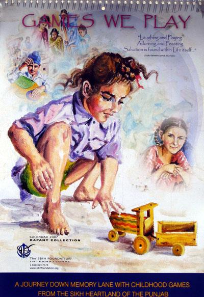 Art Journal Calendar Pages : Sikh fine arts calendar children s games the