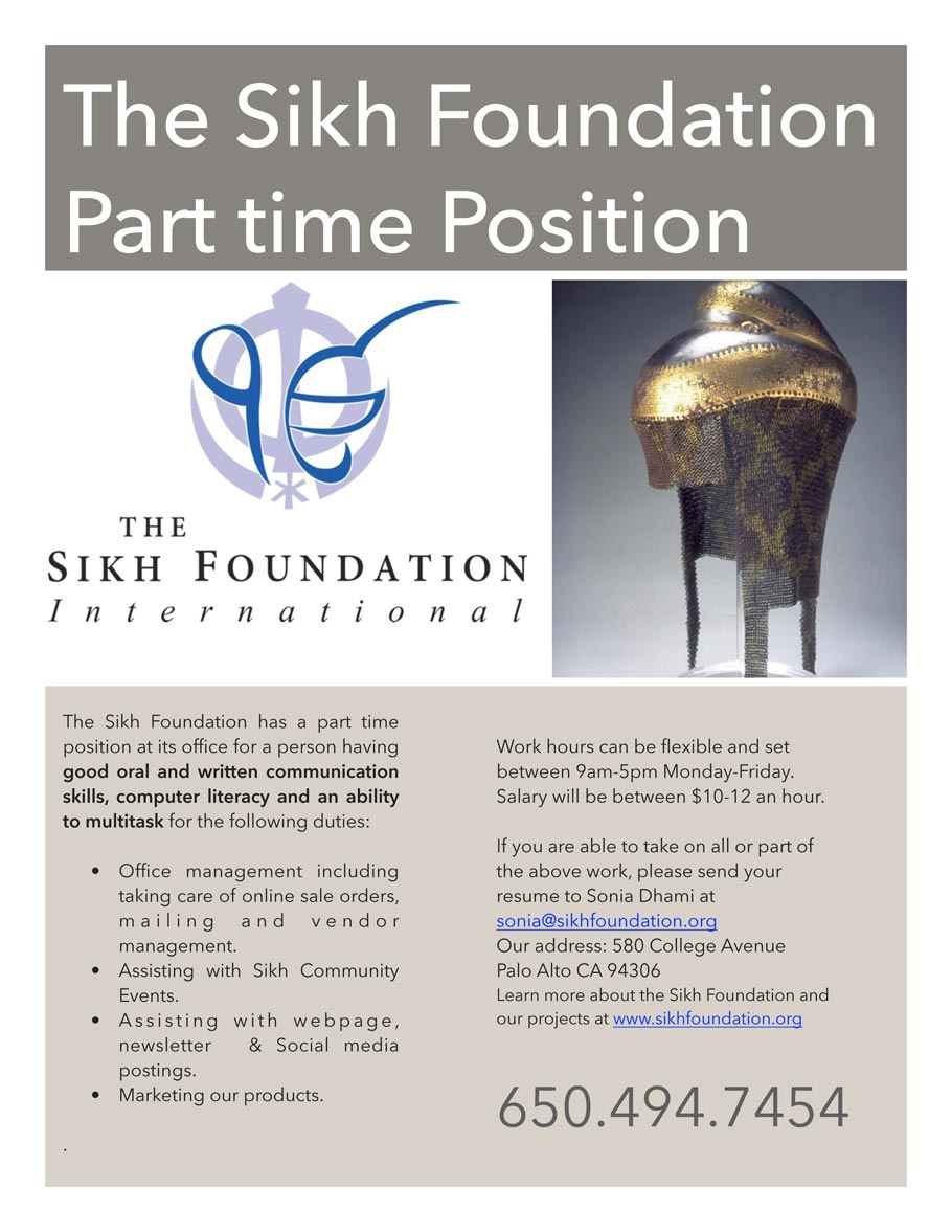 Sikh-Fdn-Parttime-position