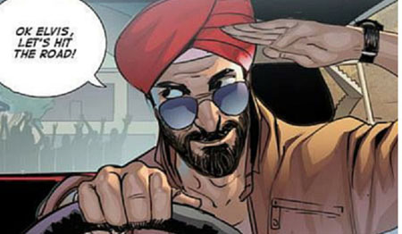 Bay Area Comic Book Writers Introduce First Sikh Super Hero… Who Loves Elvis
