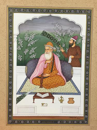Set of Paintings of the 10 Gurus