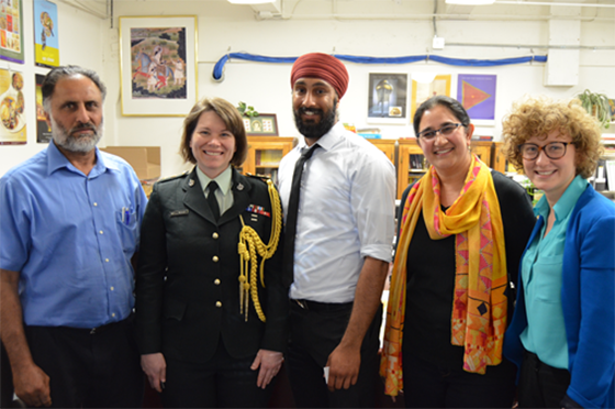 Harjit Singh Sajjan at the Sikh Foundation