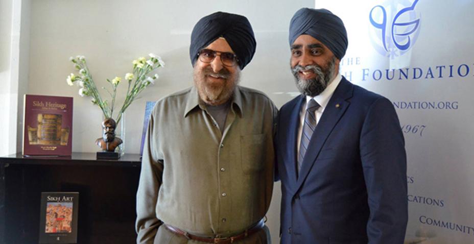 Minister Harjit Singh Sajjan visits the Sikh Foundation