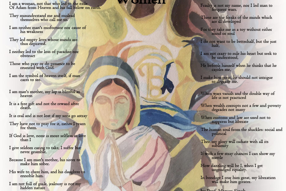 Women – a Poem by Prof. Hazara Singh