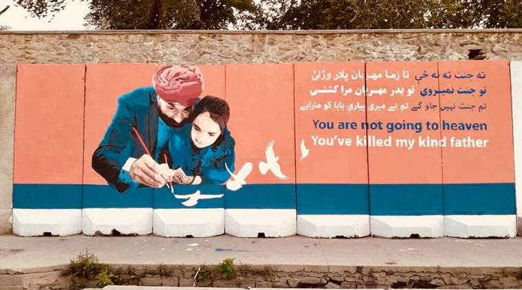 Kabul artists hit back with mural at terrorists who killed Sikhs