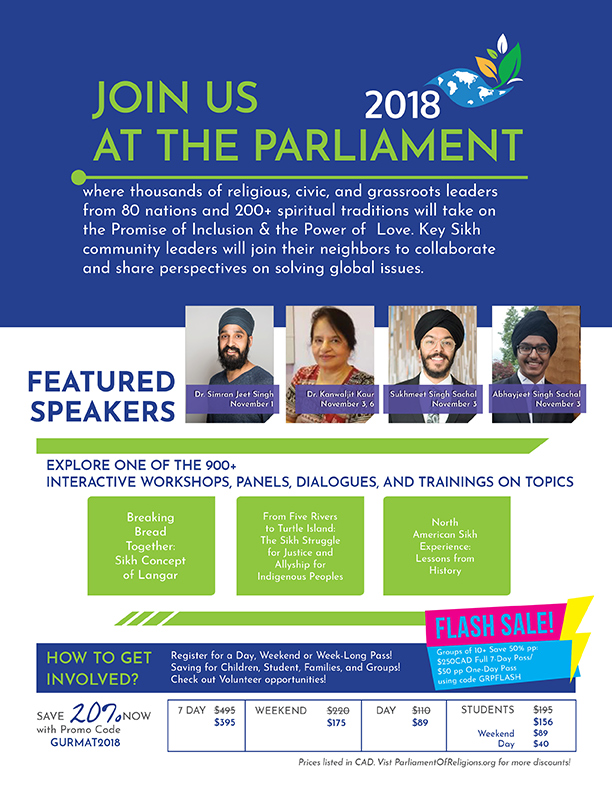 Parliament of World Religions – Toronto, 2018
