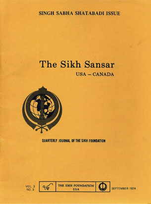 The 'Sikh Sansar' - Journal of the Sikh Foundation