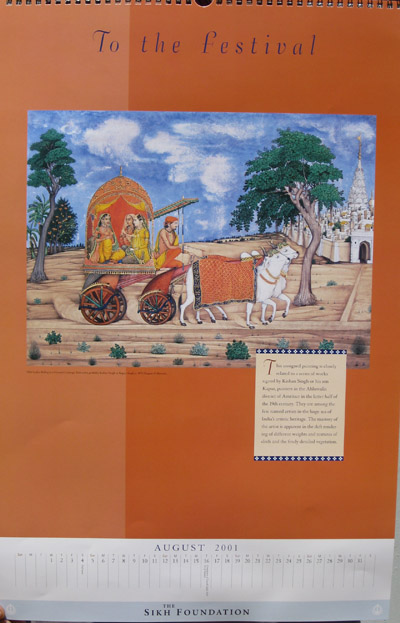 Sikh Fine Art Calendar 2001: The Kapany Collection
