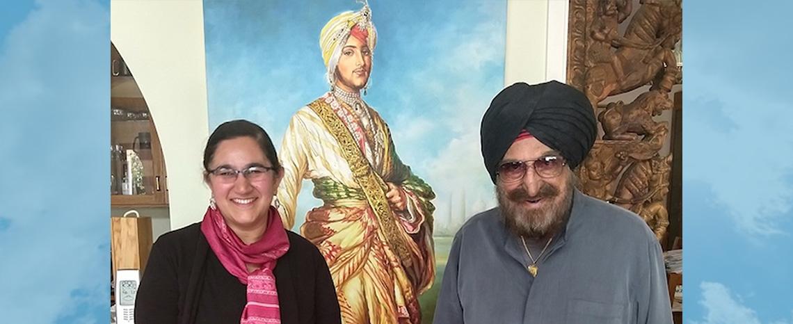 Dr. Narinder Singh Kapany with Sonia Dhami